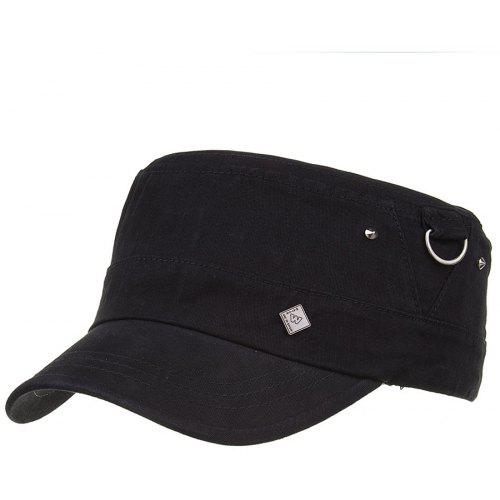 0ae87a4d4704f Simple Metal Ring Pattern Embellished Army Hat