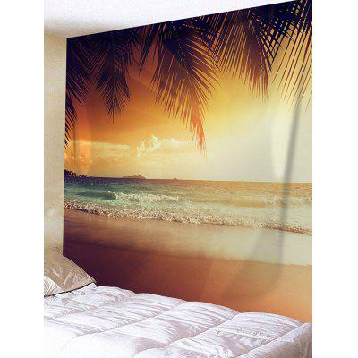 Coconut Seaside Beach Scenery Printed Wall Art Tapestry