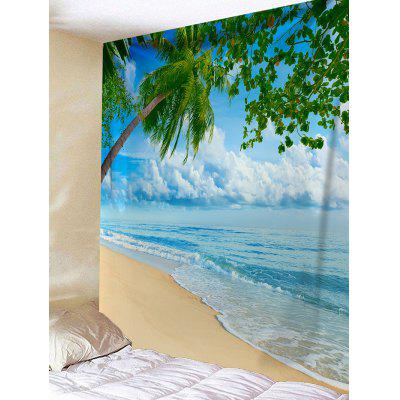 Coconut Palm Sea Beach Printed Wall Tapestry