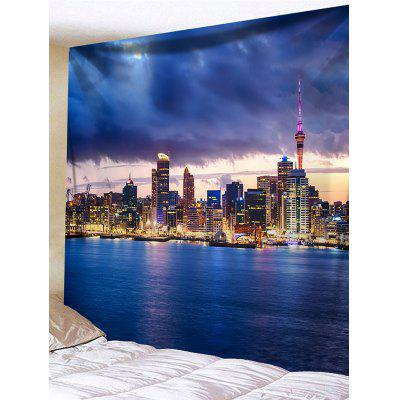 City Night Scene Print Tapestry Wall Hanging Decor