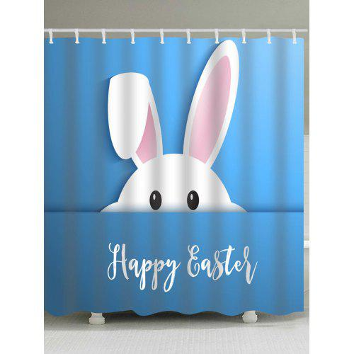 Easter Rabbit Print Shower Curtain