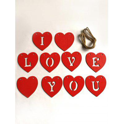 Inima in forma I LOVE YOU Decorații suspendate