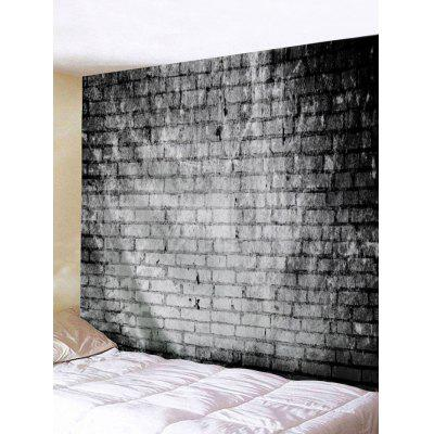 Gray Bricks Wall Print Tapestry