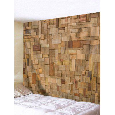 Wall Hanging Decoration Uneven Wood Board Print Tapestry