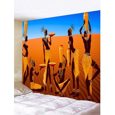 Wall Hanging Decoration African Women Desert Print Tapestry
