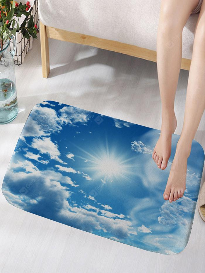 Sunshine Clouds Sky Print Anti-skid Floor Rug