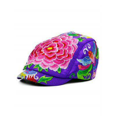Floral Embroidery Ivy Hat