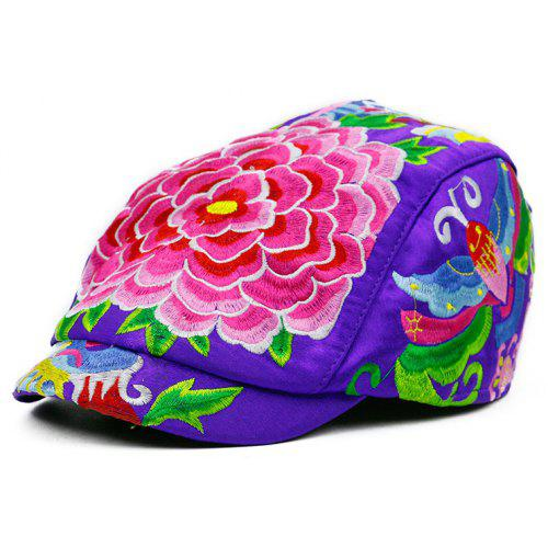 1252b907 Floral Embroidery Ivy Hat | Gearbest