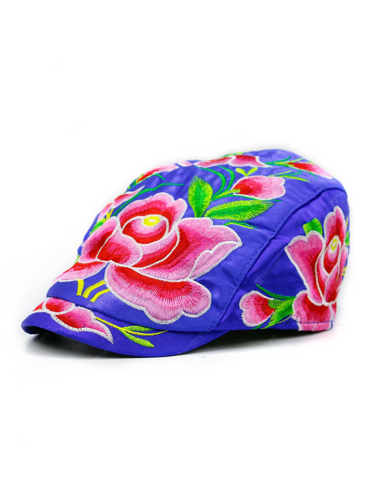 69d764bf Ivy Hat with Lotus Flower Embroidery - $6.81 Free Shipping|GearBest ...