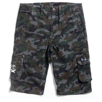 Camo Casual Pocket Shorts
