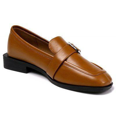 Lanbaoli Low Block Heel Loafers