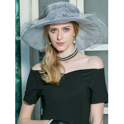 Vintage Wide Brim Wedding Party Church Hat