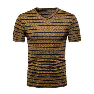 Camiseta V Neck Stripe