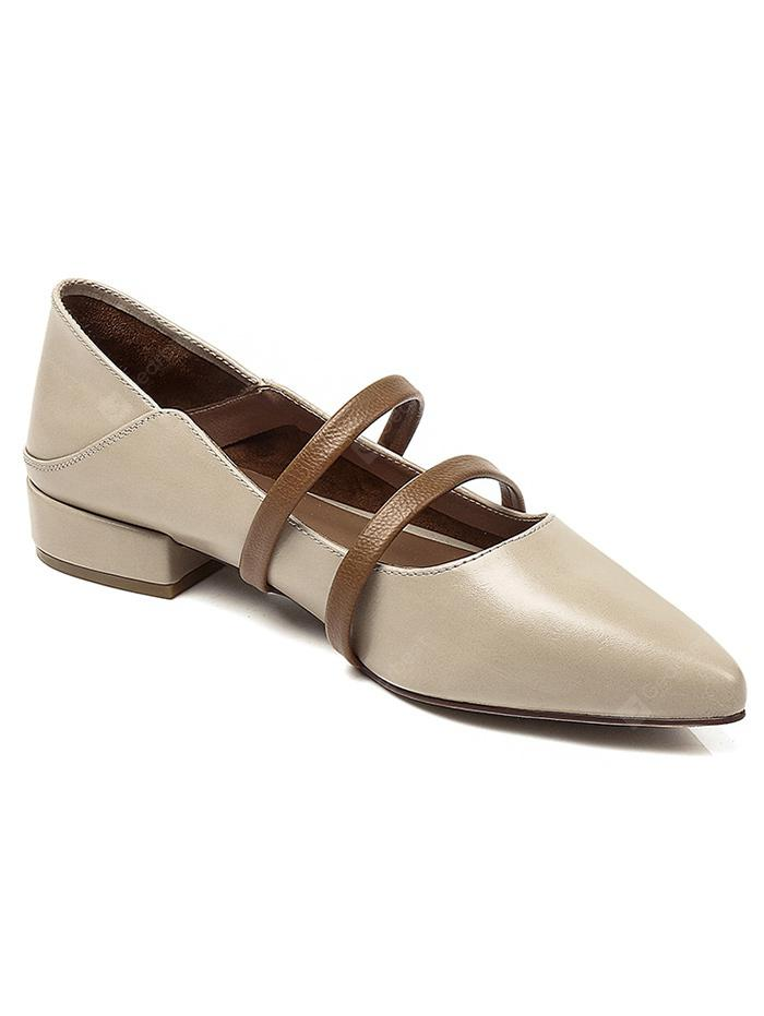 Lanbaoli Double Straps Low Heel Loafers