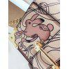 Metal Corner Cartoon Print Crossbody Bag - PINK