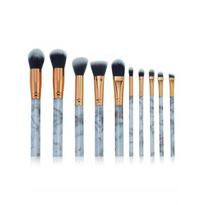 Cosmetic 10Pcs Ultra Soft Fiber Hair Makeup Brush Set