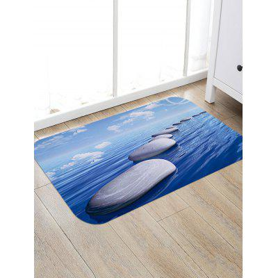 Sea Floating Stones Print Floor Rug