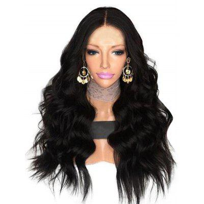 Center Parting Long Body Wave Synthetic Fiber Wig