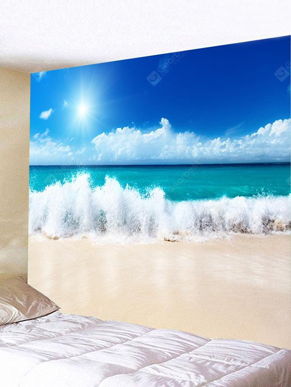 Sky Beach Sea Waves Printed Wall Tapestry