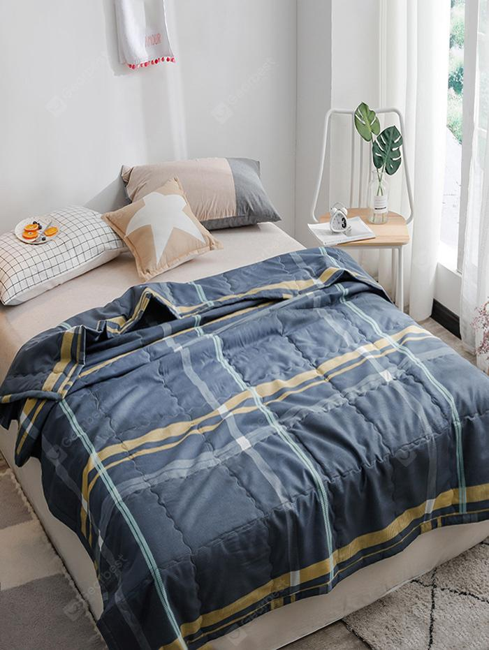 Blue Check Fabric Summer Quilt