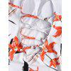 Floral Back Lace Up Swimwear - WHITE