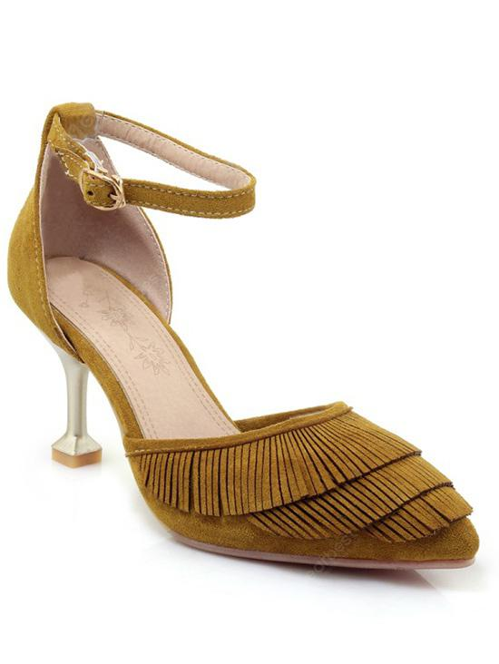 Ankle Strap Pointed Toe Fringe High Heel Sandals supply low cost cheap price manchester great sale online buy cheap 100% authentic Lqw14HZE