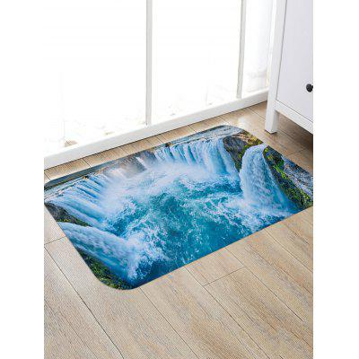 Waterfall Scenery Print Floor Area Rug