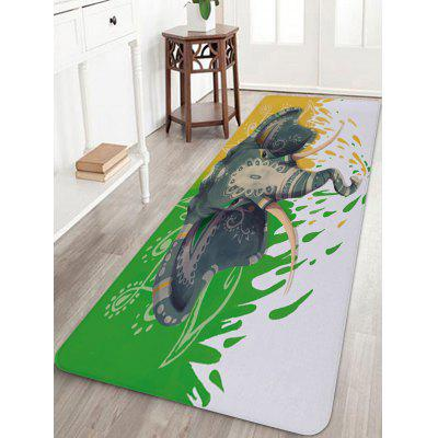 Ethnischer Elefant Print Indoor Outdoor Area Teppich