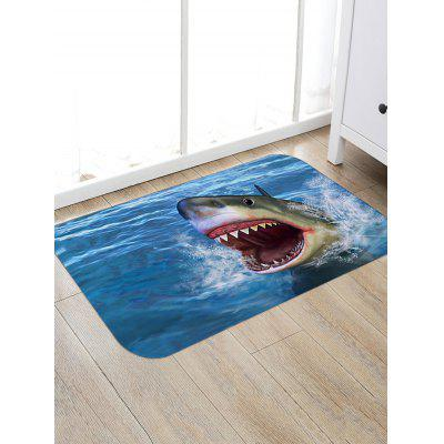 Shark Open Mouth Print Floor Rug