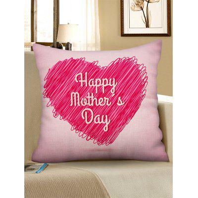 Mother's Day Gift Heart Pattern Pillow Case