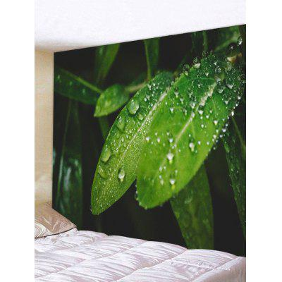 Dewdrops On The Leaves Print Tapestry Wall Hanging Art