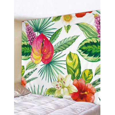 Colourful Blooming Flower Pattern Tapestry