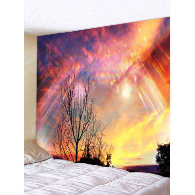 Sunset Glow Tree Print Wall Hanging Tapestry