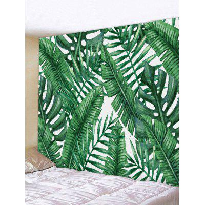 Tropical Leaves Print Tapestry Wall Hanging Decor