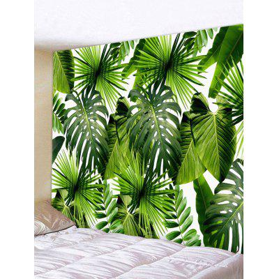 Tropical Leaves Pattern Tapestry Wall Hanging Art