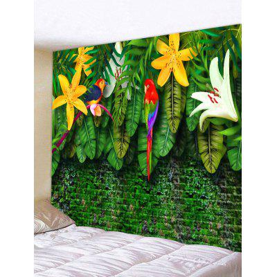 Flower and Birds Pattern Tapestry Wall Hanging Art