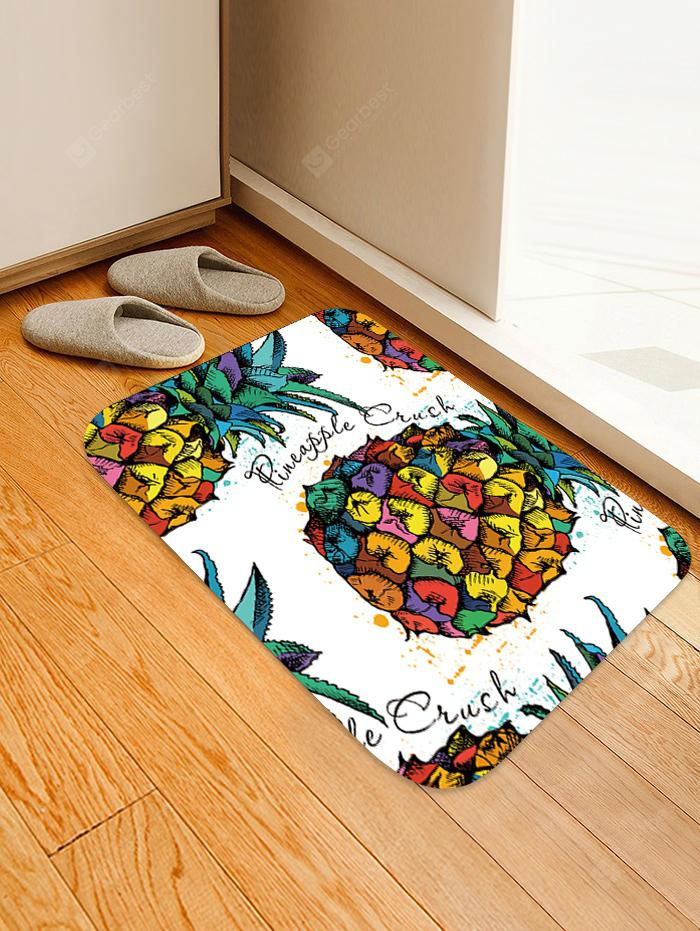 Colorful Pineapple Pattern Skidproof Area Rug