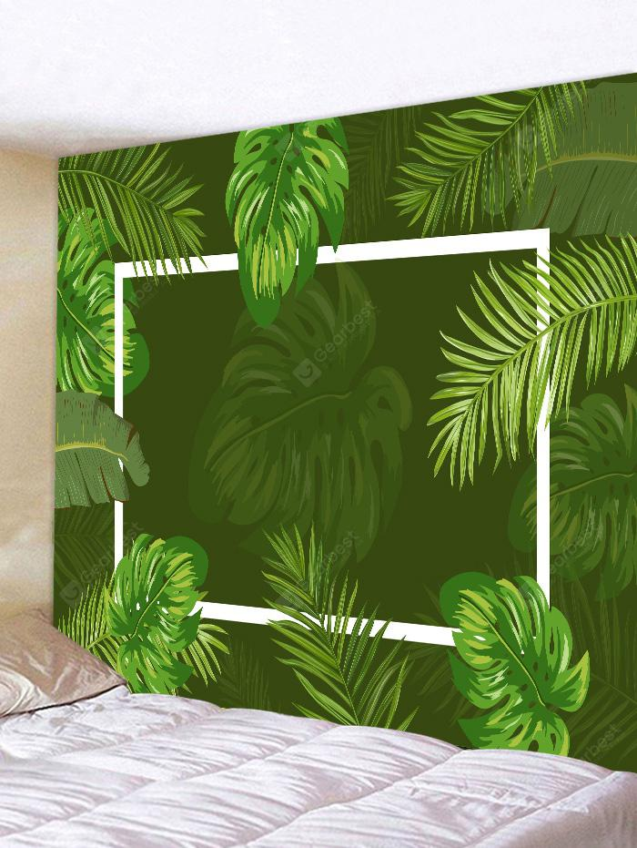 Wall Hanging Art Decoration Tropical Leaves Print Tapestry