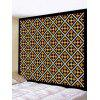 Patterned Tapestry Wall Hanging Art Decor - GOLDEN BROWN