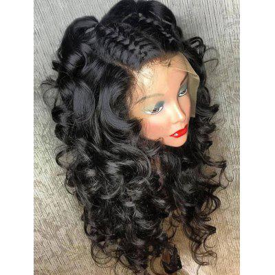 Medium Free Part Fluffy Curly Full Lace Human Hair Wig
