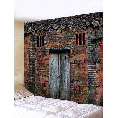 Vintage Bricks House Print Tapestry