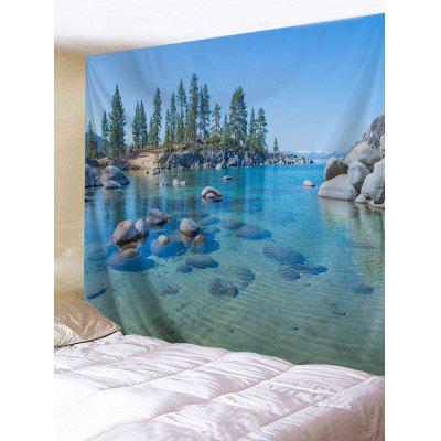 Clear River Stones Print Tapestry