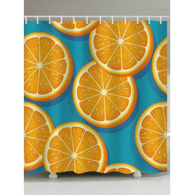 Lemon Slices Printed Shower Curtain