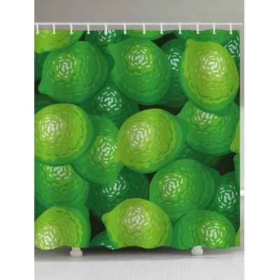Lemons Pattern Bathroom Shower Curtain