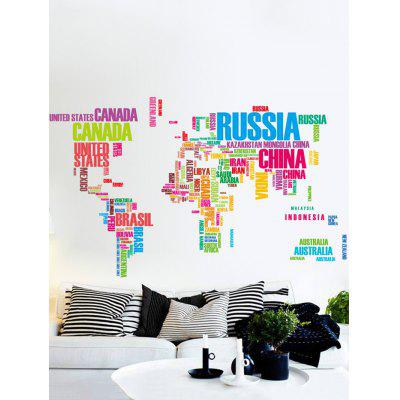 World map in english print removable wall sticker set 575 free world map in english print removable wall sticker set gumiabroncs Image collections