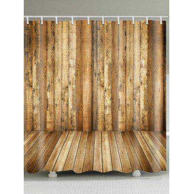 Wood Grain Printed Bathroom Shower Curtain