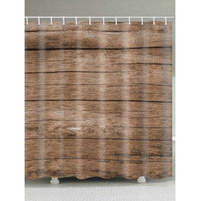 Wood Plank Printed Shower Curtain
