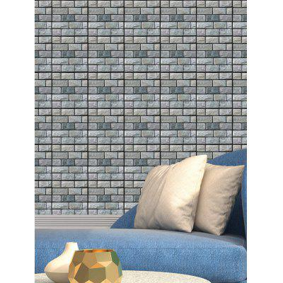 3D Pedras Tijolos Wall Print Tile Sticker 1Pcs