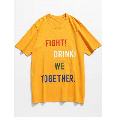 Letter Slogan Pattern T-shirt