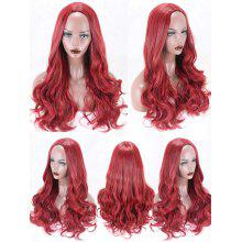 Long Center Parting Wavy Party Cosplay Synthetic Wig